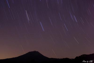 高千穂の峰と星達