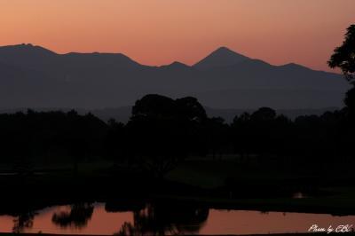 霧島連山の夜明け