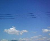 ランプ型?の雲