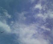 卒業式の日の空