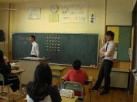 まずは英語の授業を見ました。
