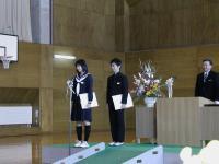 皆勤賞の二人、、すごい! 高校に行っても続けたいそうです ガンバレ~(^-^)/~~~