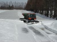 積雪量は60センチはあります これでもだいぶ減りました