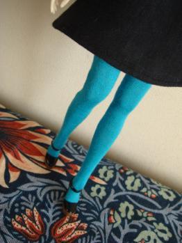 momoko turquoise tights2