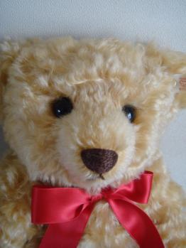 steiff bear licca anniversary face