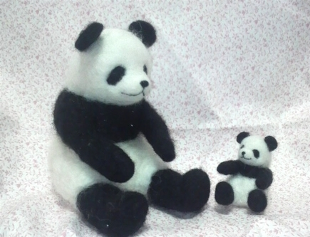 パンダ親子の節分①