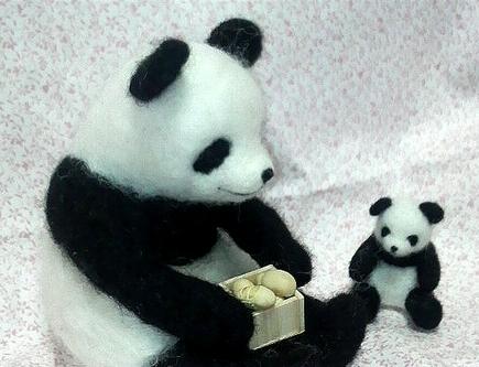 パンダ親子の節分②