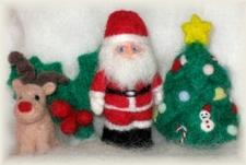 羊毛フェルト クリスマス マグネットセット ②