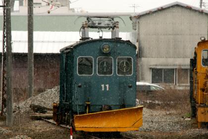 福井鉄道の除雪電車