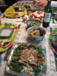 カルパッチョと煮物