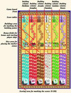 アルハンブラダイス:ゲームボード