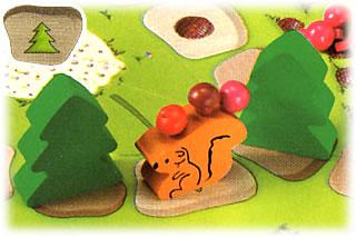 フルッティゲーム:木で道をふさぐ