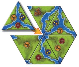 ゲオス:タイルの配置図