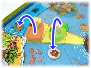やみ商人の島:荷物を捨てられる