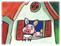 コン、コン!:子豚くんたちの家