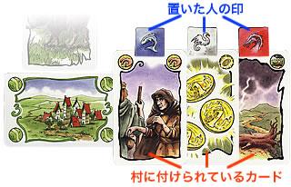 エルフの玉座:村に置かれるカード