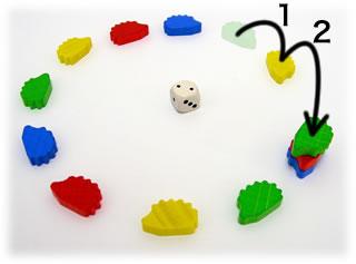 キーホルダーゲーム・はりねずみ:遊戯中