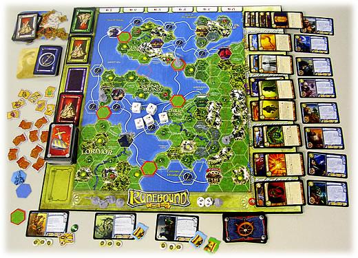ルーンバウンド拡張セット - 恐怖の島:遊戯中
