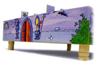 おばけの試験:足で浮いてるグラグラ城