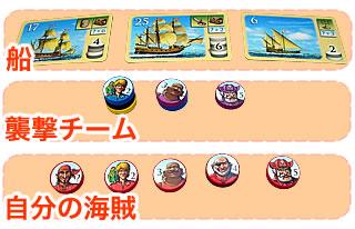 海賊組合:移動1