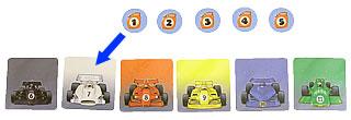 レーシングゲーム・フルスピード:チップ1を置く