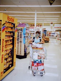スーパーで買出し