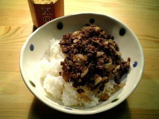 合い挽き肉のXO醤炒め001