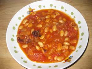 タコと大豆のトマト煮4