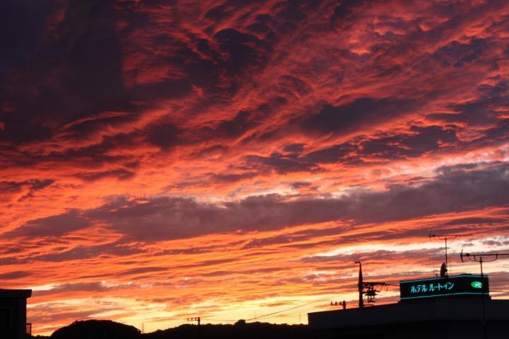 夕焼け雲20090823-01
