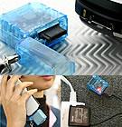 繰り返し使える携帯ストラップ充電器FOMA・Soft Bank3G用
