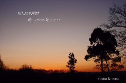 新たな夜明け 新しい年の始まり・・・