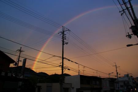 先週見た虹