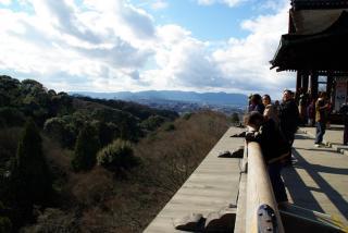 京都市を望む