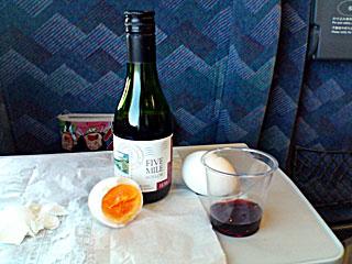新幹線でワイン