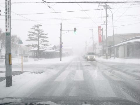 弘前は吹雪