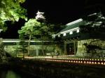 高知城ライブ(ライトアップされたお城)