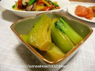 チンゲン菜。