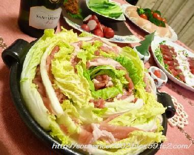 白菜と豚肉。