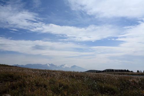 霧ヶ峰から八ヶ岳を望む