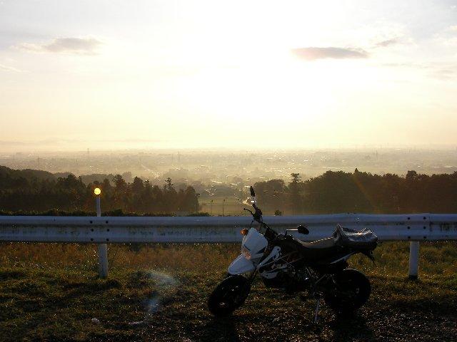 池田町の朝焼け