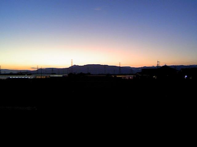 080127_我が家から見た西の空