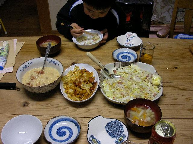質素な夕食2