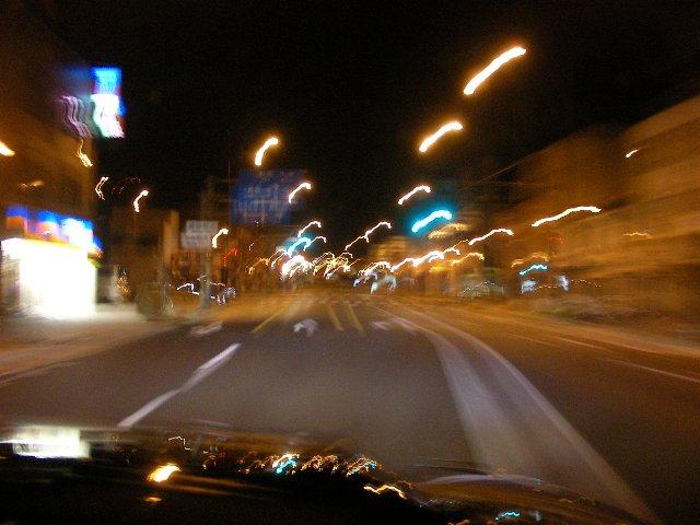 深夜の忠節橋通り