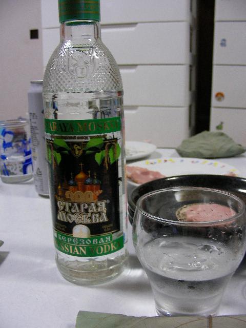 ロシアのウオッカ