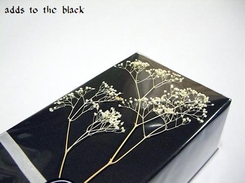 ブラック + プリザーブドフラワー