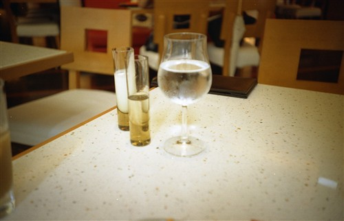 冷えたグラス