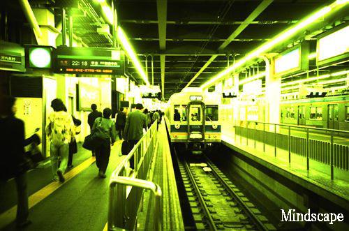 ナンバ駅を発車するNo6505車