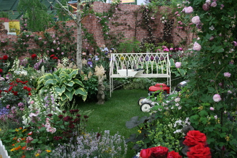 Rose Garden with Vegetables