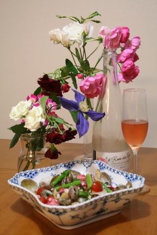 バラと酒と食事