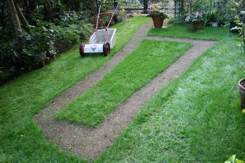 初の芝刈り機
